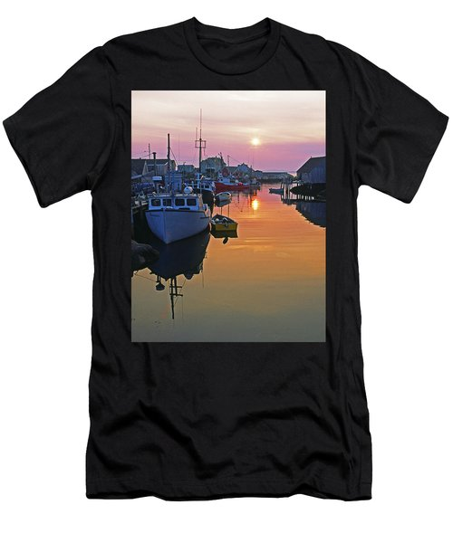 Peggy's Cove Sunset, Nova Scotia, Canada Men's T-Shirt (Athletic Fit)