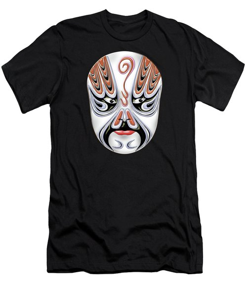 Peking Opera Face-paint Masks - Chong Houhu Men's T-Shirt (Athletic Fit)