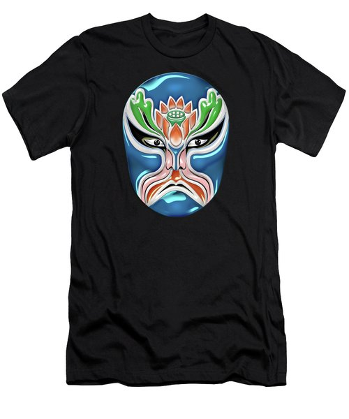 Peking Opera Face-paint Masks - Zhongli Chun Men's T-Shirt (Athletic Fit)
