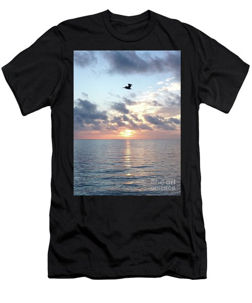 Men's T-Shirt (Athletic Fit) featuring the photograph Pelican Dawn by Barbara Von Pagel