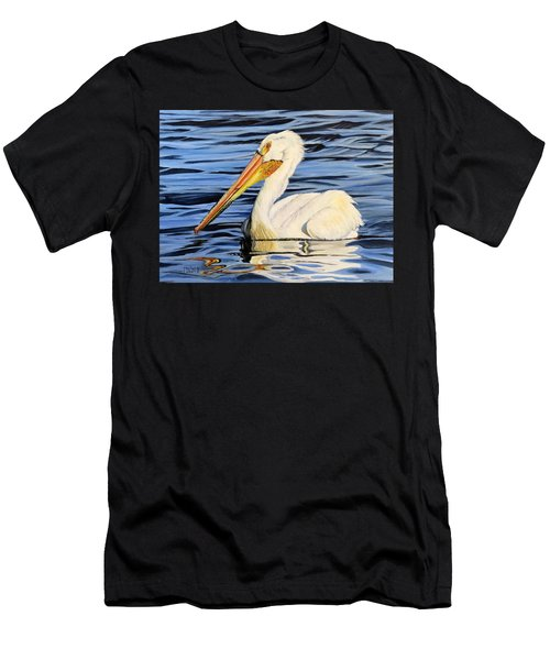 Pelican Posing Men's T-Shirt (Slim Fit) by Marilyn McNish
