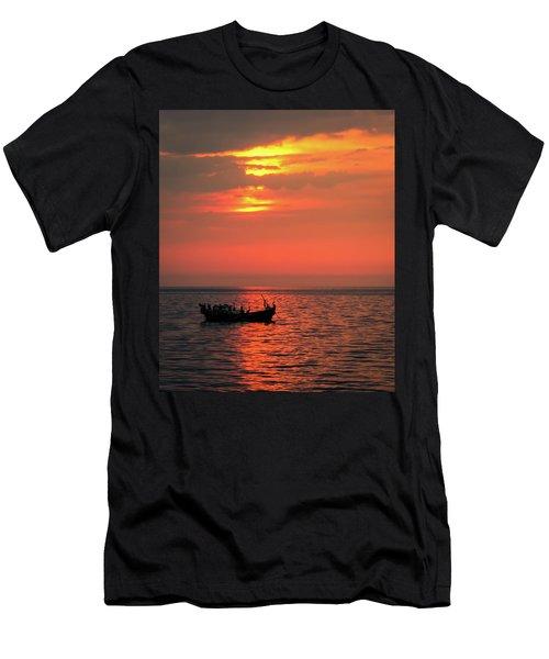 Pelicans At Sunset Men's T-Shirt (Athletic Fit)