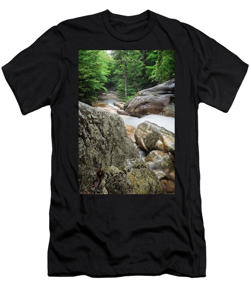 Men's T-Shirt (Athletic Fit) featuring the photograph Pemi Above Basin by Michael Hubley