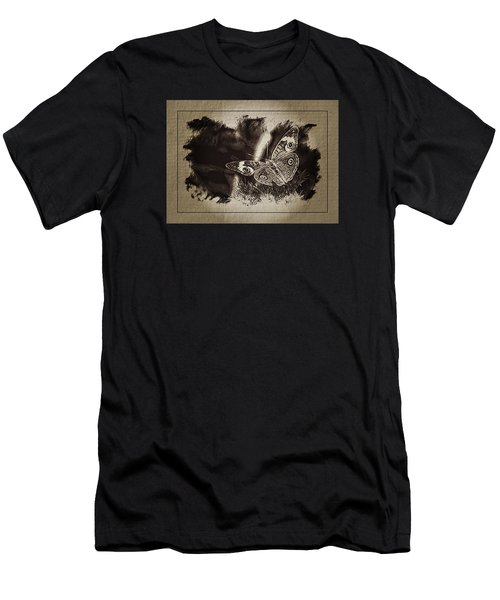 Pen And Ink Fall Butterfly Men's T-Shirt (Slim Fit) by Karen McKenzie McAdoo