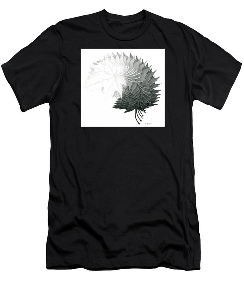 Pencil Drawing Of Maple Leaves Men's T-Shirt (Athletic Fit)