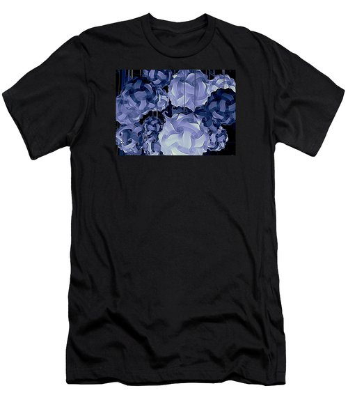 Men's T-Shirt (Slim Fit) featuring the photograph Pendants In Purple by Ranjini Kandasamy
