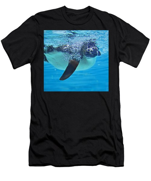 Penguin Dive Men's T-Shirt (Athletic Fit)