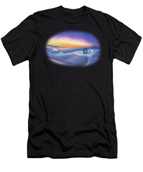 Penguins At Daybreak Men's T-Shirt (Athletic Fit)