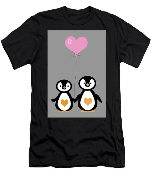 Penguins Hand In Hand Men's T-Shirt (Athletic Fit)