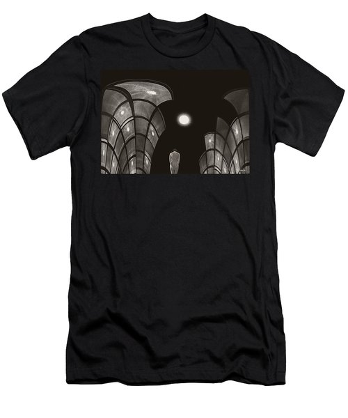 Men's T-Shirt (Slim Fit) featuring the photograph Pensive Nude In A Surreal World by Joe Bonita