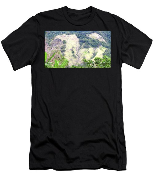 Penuelas, Puerto Rico Mountains Men's T-Shirt (Athletic Fit)