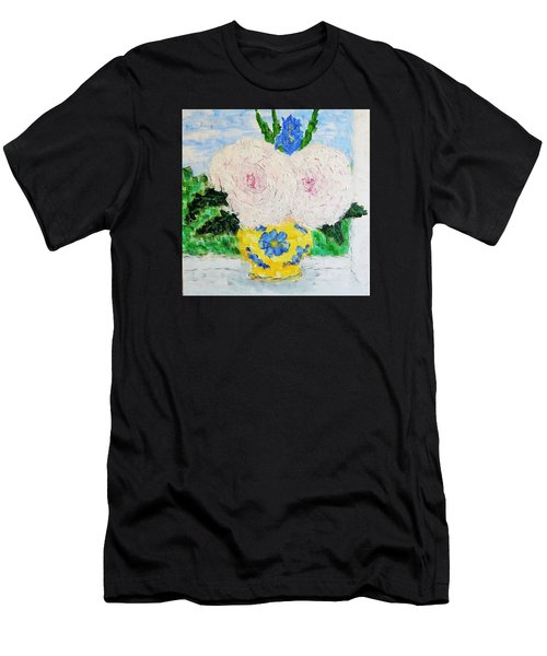 Peonies And Iris On The Window. Men's T-Shirt (Athletic Fit)