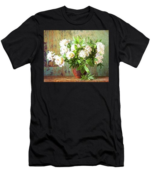 Peonies In A Vase Men's T-Shirt (Athletic Fit)