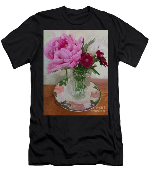 Peonies With Sweet Williams Men's T-Shirt (Athletic Fit)