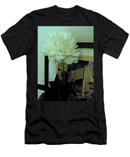 Men's T-Shirt (Slim Fit) featuring the photograph Peony Pose by Nancy Kane Chapman