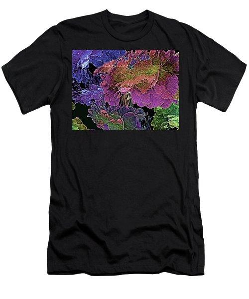 Peony Profusion 104 Men's T-Shirt (Slim Fit) by Lynda Lehmann