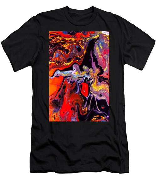 People - Abstract Colorful Mixed Media Painting Men's T-Shirt (Athletic Fit)
