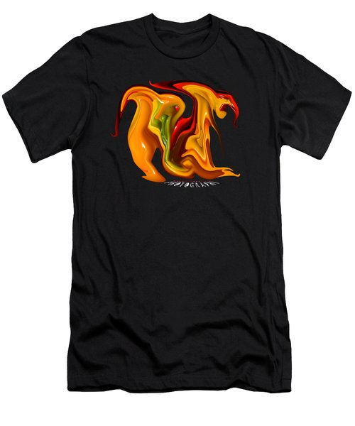 Peppers Lion Transparency Men's T-Shirt (Athletic Fit)