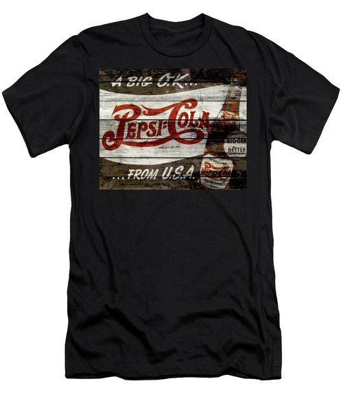 Pepsi Cola Vintage Sign 4a Men's T-Shirt (Athletic Fit)