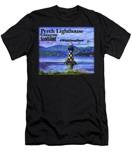 Perch Lighthouse Scotland Shirt Men's T-Shirt (Athletic Fit)