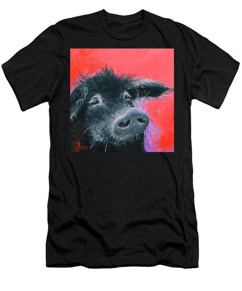 Percival The Black Pig Men's T-Shirt (Athletic Fit)