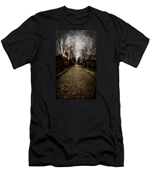 Men's T-Shirt (Slim Fit) featuring the photograph Pere Lachaise Cemetery Road 2 by Katie Wing Vigil