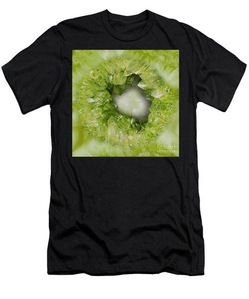 Peridot Green Crystal Heart Men's T-Shirt (Athletic Fit)