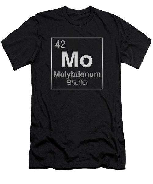 Periodic Table Of Elements - Molybdenum - Mo - On Black Men's T-Shirt (Athletic Fit)