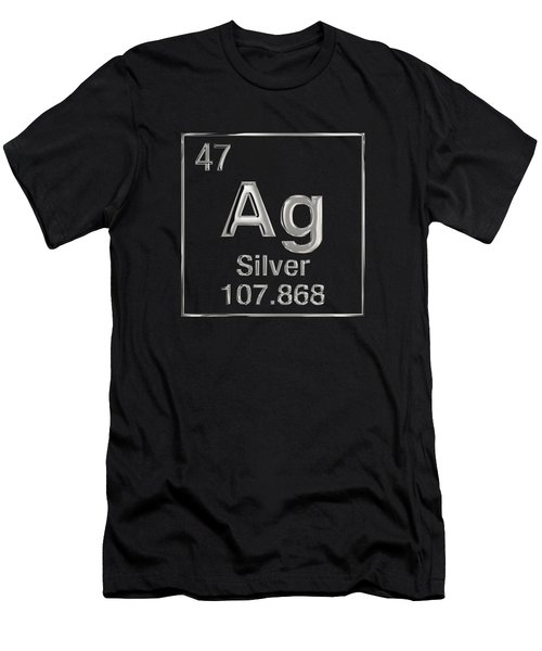 Periodic Table Of Elements - Silver - Ag Men's T-Shirt (Athletic Fit)