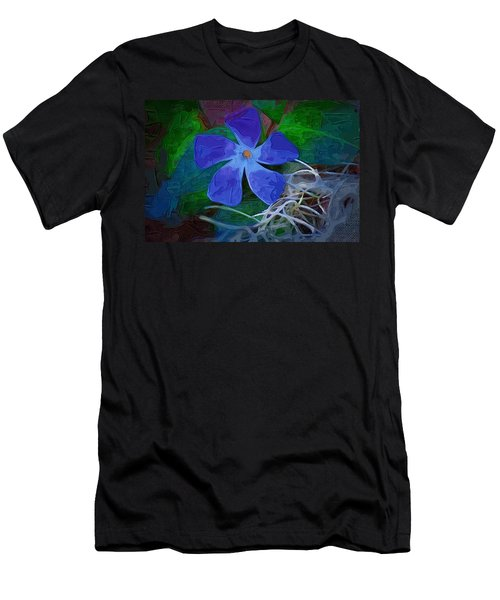 Men's T-Shirt (Slim Fit) featuring the digital art Periwinkle Blue by Donna Bentley