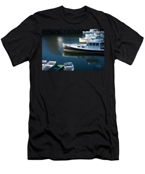 Perkins Cove Lobster Boats One Men's T-Shirt (Athletic Fit)