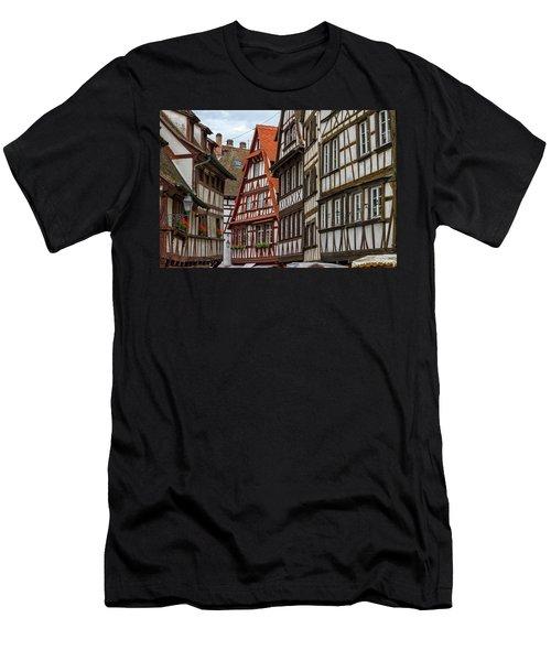 Petite France Houses, Strasbourg Men's T-Shirt (Athletic Fit)