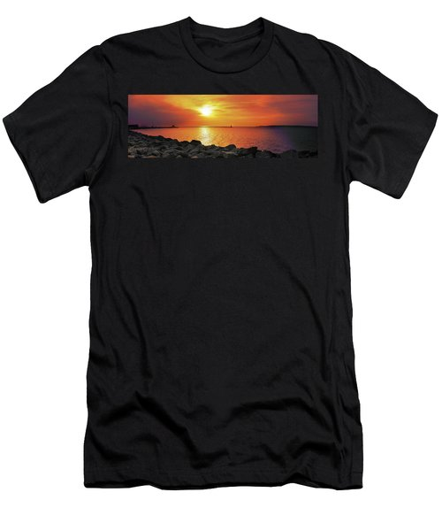 Petoskey Sunset Men's T-Shirt (Athletic Fit)