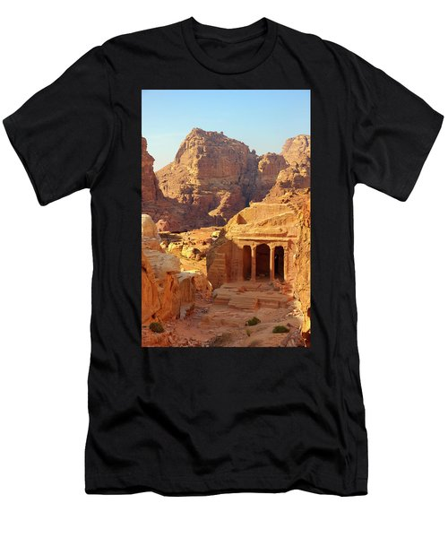 Petra Buildings, Pond And Gardens Complex Men's T-Shirt (Athletic Fit)