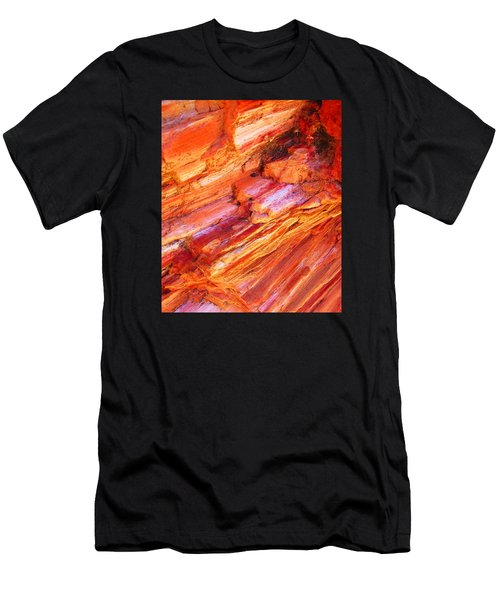 Men's T-Shirt (Slim Fit) featuring the photograph Petrified Abstraction No 1 by Andreas Thust