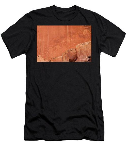 Petroglyphs In Capital Reef Men's T-Shirt (Athletic Fit)
