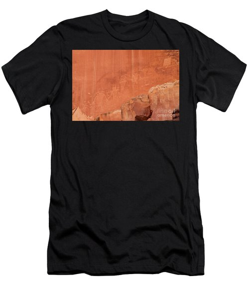 Petroglyphs In Capital Reef Men's T-Shirt (Athletic Fit)