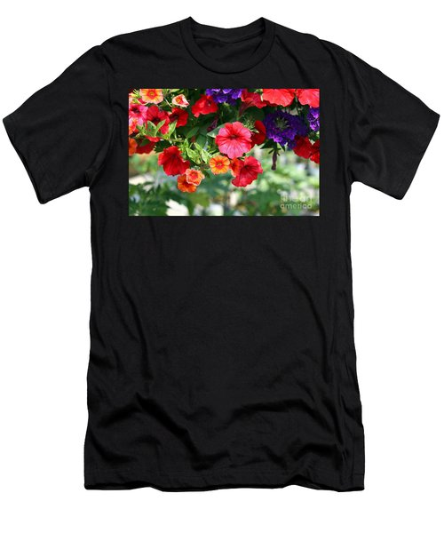 Men's T-Shirt (Slim Fit) featuring the photograph Petunias by Denise Pohl