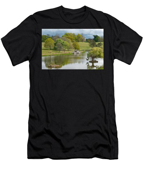 Men's T-Shirt (Athletic Fit) featuring the photograph Petworth Lake In April by Michael Hope