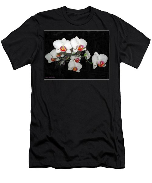 Phalaenopsis Orchids Men's T-Shirt (Slim Fit) by Joyce Dickens