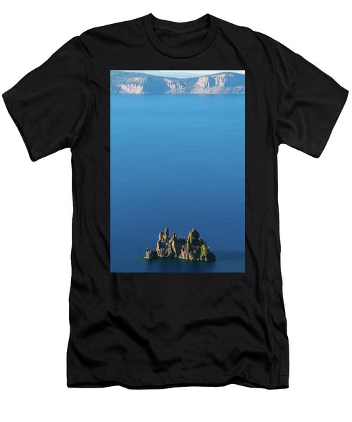 Phantom Ship Island Crater Lake National Park Oregon 2 Men's T-Shirt (Athletic Fit)