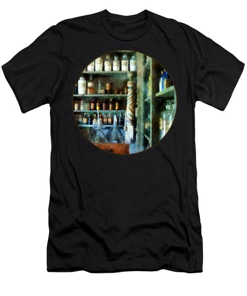 Pharmacy - Back Room Of Drug Store Men's T-Shirt (Slim Fit) by Susan Savad