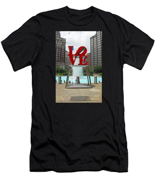 Philadelphia's Love Park Men's T-Shirt (Athletic Fit)