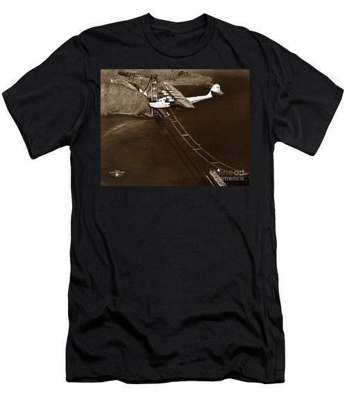 Philippine Clipper A Pan Am Clipper Over The Golden Gate Bridge  1935 Men's T-Shirt (Athletic Fit)
