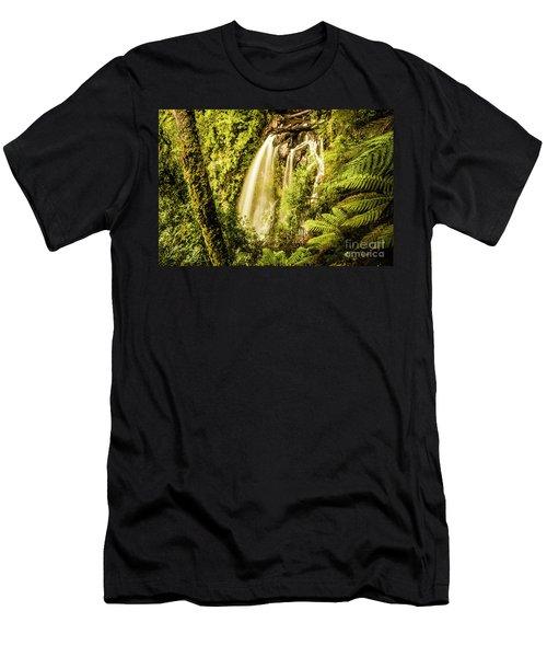Philosopher Falls, Western Tasmania Men's T-Shirt (Athletic Fit)