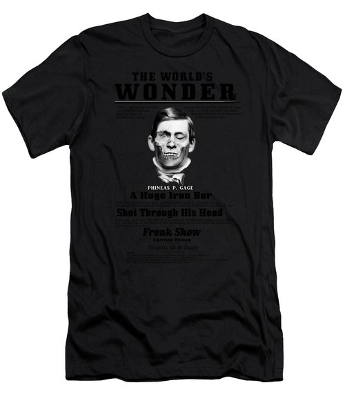 Phineas Gage World's Wonder Men's T-Shirt (Athletic Fit)
