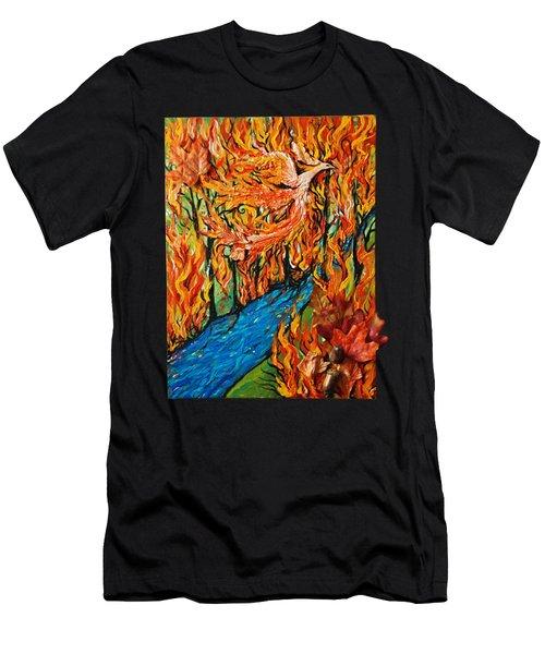 Phoenix Forest Fire Men's T-Shirt (Athletic Fit)