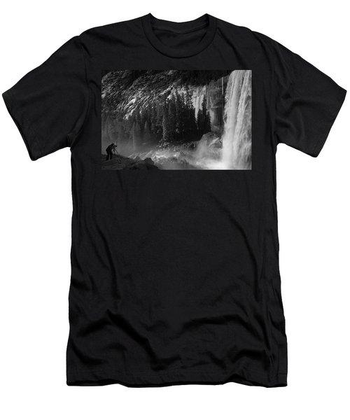 Photographer At Vernal Falls Men's T-Shirt (Athletic Fit)