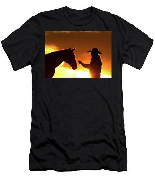 Cowgirl Sunset Sihouette Men's T-Shirt (Athletic Fit)