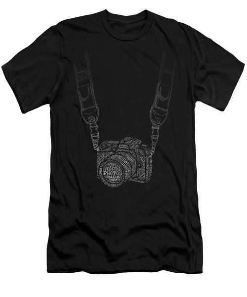 Photography Slang Word Cloud Camera Men's T-Shirt (Athletic Fit)